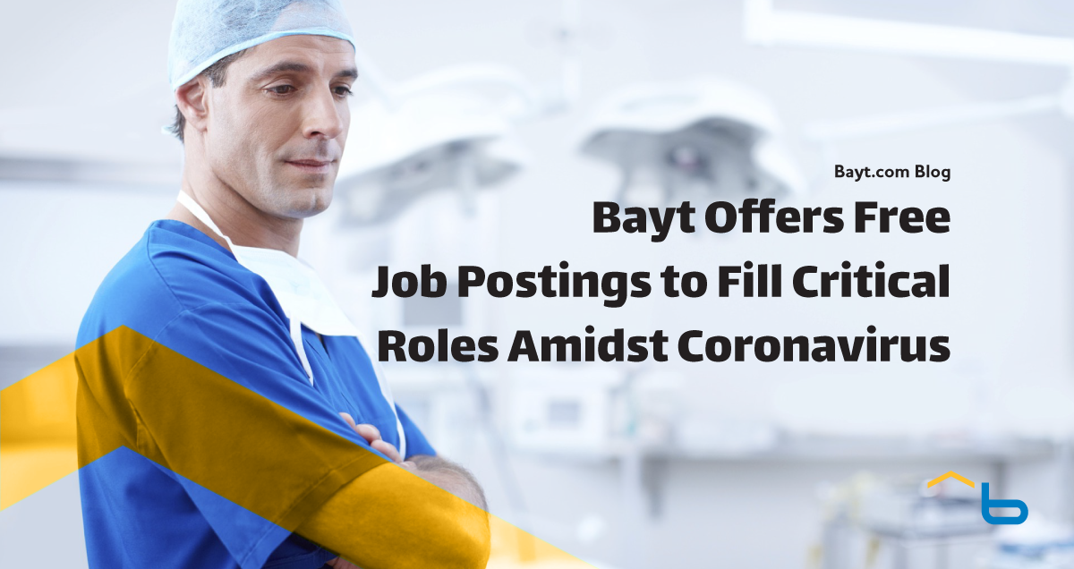 Bayt Offers Free Job Postings to Fill Critical Roles Amidst Coronavirus