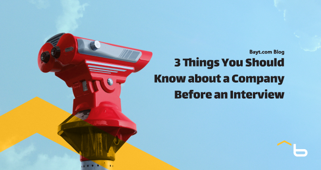 Three Things You Should Know about a Company Before an Interview